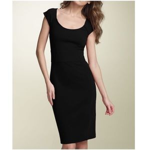 DVF Black Ponte Knit Alejetta midi Sheath dress 6